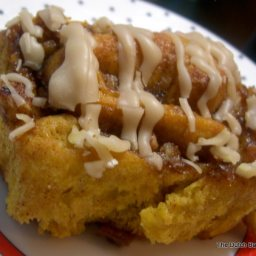 Pumpkin Cinnamon Rolls with Penuche Glaze