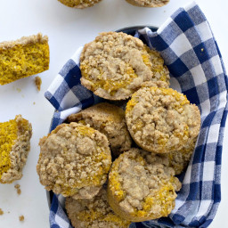 Pumpkin Coffee Cake Muffins