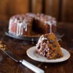 Pumpkin Coffee Cake with Brown Sugar-Pecan Streusel
