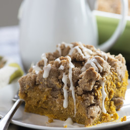 Pumpkin Coffee Cake with Streusel