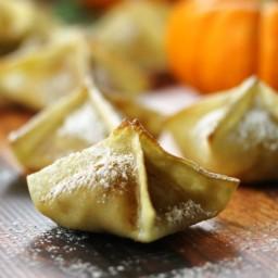 Pumpkin Cream Cheese Wontons
