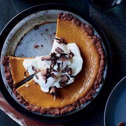 Pumpkin Cream Pie in a Chocolate Crust