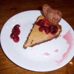 Pumpkin Cream Tarts with Candied Cranberries