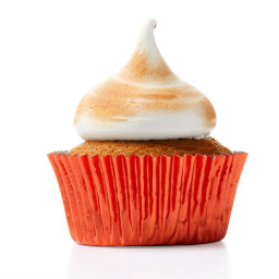 Pumpkin Cupcakes with Burnt Marshmallow Frosting