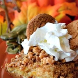 Pumpkin Ginger Snap Crunch Cake