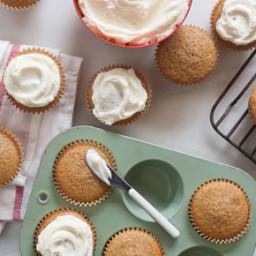 Pumpkin-Gingerbread Cupcakes