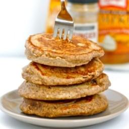 Pumpkin Gingerbread Protein Pancakes