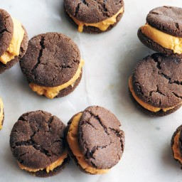 Pumpkin-Gingerbread Ice Cream Sandwiches
