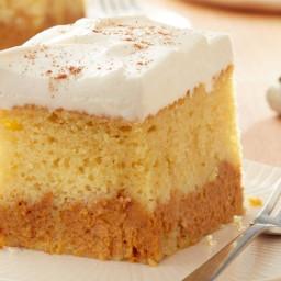 Pumpkin Layered Magic Cake