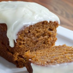 Pumpkin Loaf/Cupcakes with Cream Cheese Icing