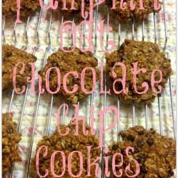 Pumpkin Oat Chocolate Chip Cookies