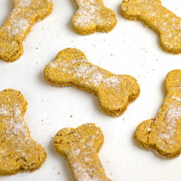 Pumpkin Oat Dog Biscuits
