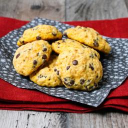 Pumpkin-Oatmeal-Chocolate chip cookies