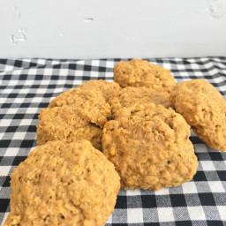 Pumpkin Oatmeal Cookies with a Maple Glaze