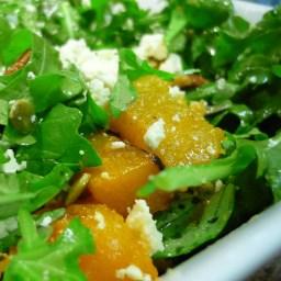 Pumpkin, pecan and feta salad