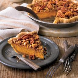 Pumpkin-Pecan Streusel Pie