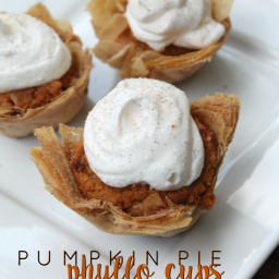 Pumpkin Pie Phyllo Cups