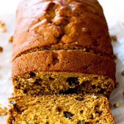 Pumpkin Pie-Spiced Pumpkin Bread