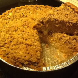 Pumpkin Pies With Cinnamon-pecan Topping