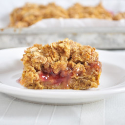 Pumpkin Raspberry Oat Bars