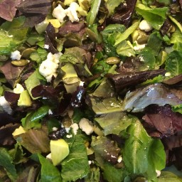 Pumpkin Seed, Goat Cheese, Raisin, and Avocado Salad (Mike)