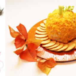 Pumpkin Shape Ham and Cheese Ball