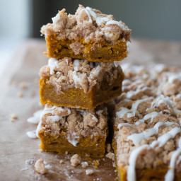 Pumpkin Sour Cream Crumb Bars