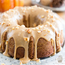 Pumpkin Spice Bundt Cake – With Brown Sugar and Cream Cheese Glaze