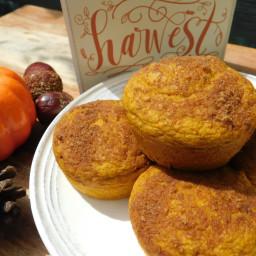 Pumpkin spice pancake muffins