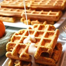 Pumpkin Spice Whey Protein Waffles