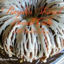Pumpkin Streusel Bundt Cake with Vanilla Glaze