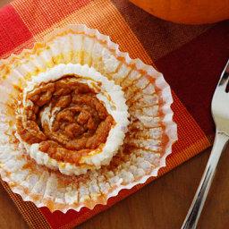 Pumpkin Swirl Cheesecake Yogurt Cupcakes
