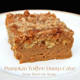 Pumpkin Toffee Dump Cake
