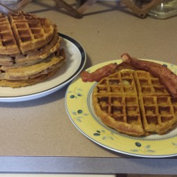 Pumpkin Waffles with Orange butter