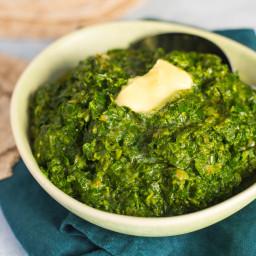 Punjabi Sarson Ka Saag (Greens and Spices)