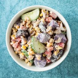 Purple Garden Potato Salad