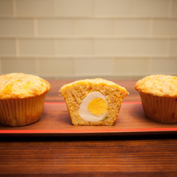 Put-An-Egg-In-It Ham and Cheese Corn Muffins