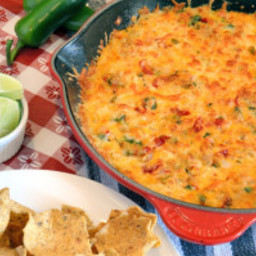 Queso Fundido con Verduras (Mexican Cheese and Vegetable Fondue)