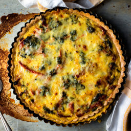 Quiche With Red Peppers and Spinach