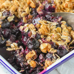 Quick & Easy Blueberry Crisp (+Secret Ingredient!)