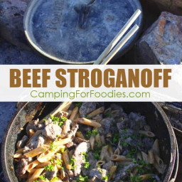 Quick & Easy Dutch Oven Beef Stroganoff Camping Recipe