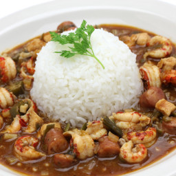 Quick and Easy Chicken and Sausage Gumbo