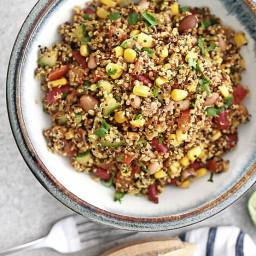 Quick and easy Mexican quinoa salad