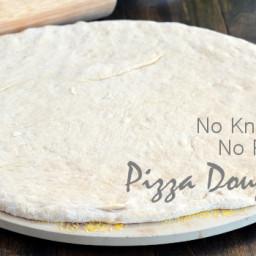 Quick and Easy Pizza Dough {No Knead, No Rise}
