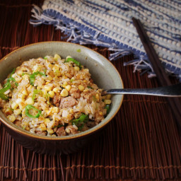 Quick and Easy Pork Fried Rice With Corn and Shishito Peppers Recipe