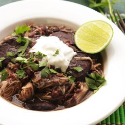 Quick and Easy Pressure Cooker Chicken and Black Bean Stew