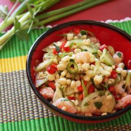 Quick and Easy Shrimp, Corn, and Tomatillo Salad Recipe