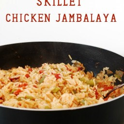 Quick and Easy Skillet Chicken Jambalaya - 15 minute meal