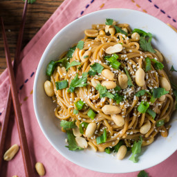 Quick and Easy Soy-Peanut Noodles