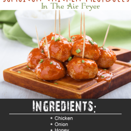 Quick Blend Jamaican Chicken Meatballs In The Air Fryer
